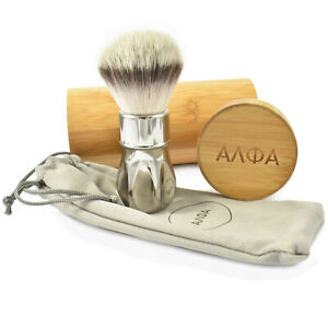 Alpha Brush Co TITANIUM Outlaw Synthetic Fibres Shaving Brush - 26mm Knot