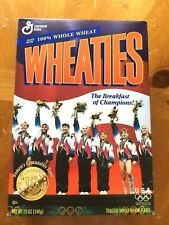 Wheaties 1996 Womens Gymnastics USA Gold Medal Collector's Box, Sealed, Vintage