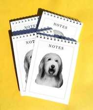 Bearded Collie Pack of 4, A6 Dog Jotter Notepads Gift Set