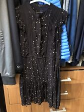 ALL SAINTS black Silk Dress Rrp$350 Sz M 8-10