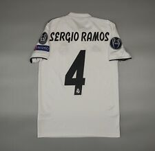 Ramos Real Madrid 2018 2019 Home Football Soccer Shirt Jersey Adidas Camiseta