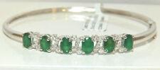 Emerald Tennis White Gold Fine Bracelets