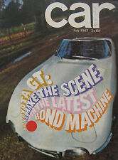 CAR 07/1967 featuring Toyota 2000GT, Chevrolet Camaro SS, Mercury Couge, Ford