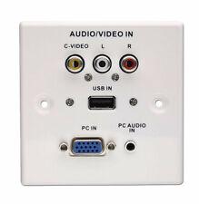 LINDY AV/USB/VGA Wandanschlussplatte Kunststoff Weiß