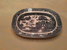 PLATTER BLUE WILLOW STAFFORSHIRE ENGLAND LATE 19TH EARLY 20TH CENTURY