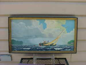 TOUGH  1964 Hamm's Beer sailboat picture  Distributor piece  St Paul MN