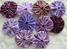 30 1 1/2 inch  Purple fabric Yo Yos.
