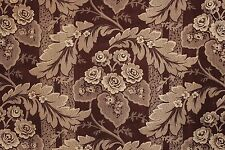 French Fabric Purple Antique cotton roller printed floral material circa 1820