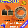 FRONT REAR Brake Pads Shoes BENELLI Naked 100 2002