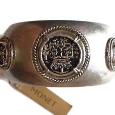 Monet Bangle Hinged Signed Crest Bangle Bracelet Roman Holiday International