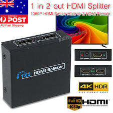 1 IN 2 OUT HDMI Splitter 1080P 4K Full HD Duplicator for TV AV Sender/FOXTEL Box