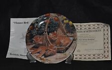 FLOWER BED: BRITISH SHORTHAIRS BY AMY BRACKENBURY CAT TAILS COLLECTOR PLATE