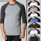 Men's Raglan style tee 3/4 sleeve designer plain baseball raglans Fashion Fit
