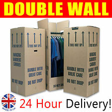 """5 Very Large 18"""" Strong Moving Wardrobe Cardboard Boxes a Grade Board"""