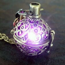 Steampunk FIRE necklace pendant charm locket jewelry Wicca Victorian goth choker