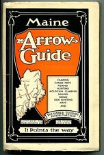 MAINE ARROW GUIDE Camping Hunting Fishing Maps 1940