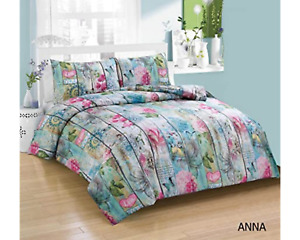 Anna Soft Single Size Duvet Cover Set With Pillowcase