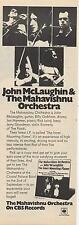 Mahavishnu Orchestra Inner Mounting Flame LP advert Time Out cutting 1972