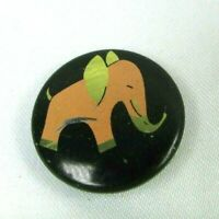 1950s VTG PINK ELEPHANT Pin Back Button MCM Mod Mid Century Modern
