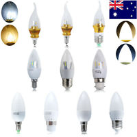 6x E14 E27 B15 B22 3W 5W 6W 7W 8W LED SMD Candle Light Bulbs Spotlight Reflector