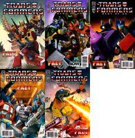 Transformers: Best of UK - Prey #1-5 (2009) IDW Comics - 5 Comics