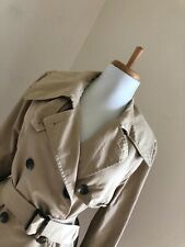 Ralph Lauren Short Trench Coat Double Breasted Belted Spy Jacket Military