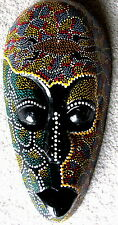 ABORIGINAL TRIBAL MASK INDONESIA AFRICAN ART DECOR WALL HANGING HAND PAINT WOOD