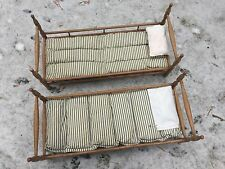 Antique Handmade Wooden Doll Bunk Bed Set Americana, One of a Kind American Girl