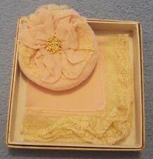 Vintage 1920/30s Boudoir Powder Puff - Hankey Lace Trimmed in Presentation Box