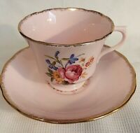 "Vintage ""Vale"" Floral, Pink Tea Cup and Saucer Set"