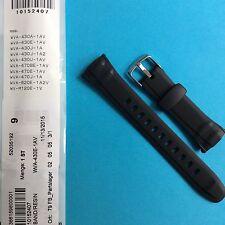 Casio uhrband negros wva-430, wva-470, wva-620, wv-m120e banda Strap LW
