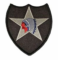 US ARMY SECOND 2ND INFANTRY DIVISION ID PATCH INDIAN HEAD SOLDIER VETERAN