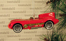 JAGUAR D-TYPE RACE CAR RED YELLOW #27  RACING CHRISTMAS TREE ORNAMENT XMAS