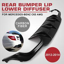 CE For 12-14 Mercedes-Benz C63 W204  AMG Big Fin Style Carbon Fiber Rear Bumper