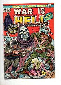 War is Hell #9 FIRST APP DEATH! Very LOW PRINT RUN! VF 8.0 KEY THANOS BOOK! 1974