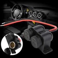 Waterproof 12V Car Motor Dual Female Cigarette Lighter Power Plug Socket Replace