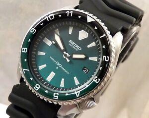 Seiko Green Hulk PloProf Ceramic Automatic Scuba Divers Date Watch Custom 7002