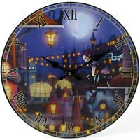 PAGAN/WICCAN/WITCHY/NEW AGE FABLE CITY Clock by Dr.Weird .wooden.34cm x 34cm