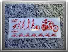 """Hells Angels support 81 stickers autocollant """"Evolution of On... and women"""" grand"""