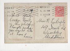 Miss N Lee Bapty Scarle Road Wembley 1919 534a