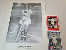 Thelma Tiby Eisen 1940's Major League Women Baseball AAGPBL Card & Picture lot