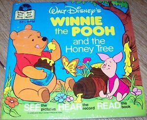 Winnie the Pooh & the Honey Tree- Disneyland Small Record & Book - New Sealed