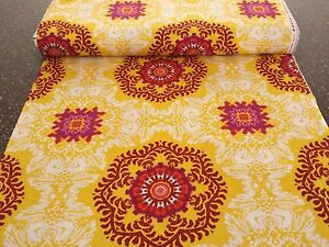 Impressions Fall 2012 Venice Ty Pennington BTY Yellow Purple Wine Floral Damask