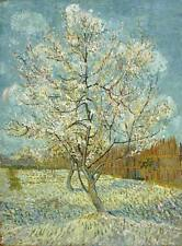 THE PINK PEACH TREE, Vincent Van Gogh Giclee CANVAS PRINT 24x30 in.