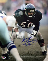 MIKE SINGLETARY SIGNED AUTOGRAPHED 11x14 PHOTO + HOF 98 CHICAGO BEARS PSA/DNA