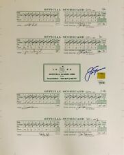 Jack Nicklaus Signed 16x20 1986 Masters Scorecards Auto - Fanatics Golden Bear