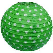 Polka Dot Côtelé papier lampe abat-jour en vert 38 cm