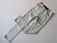 One Teaspoon Super Baggies in Surrender Leopard Shredded Destroyed Jeans 25