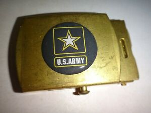 US ARMY Raised Insignia Brass Belt Buckle, Made By U.S. C.E