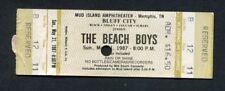 Original 1987 The Beach Boys unused full concert ticket Memphis Tn Surfin Usa